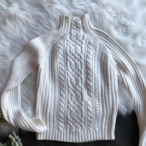 Tommy Hilfiger Sweaters - Tommy Hilfiger Mock Neck Ribbed Sweater 90's M
